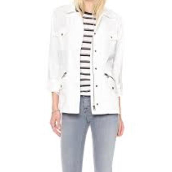 807f1876908 Lily Aldridge for Velvet White Army Jacket. M 5b49205f2e1478f9281c7981